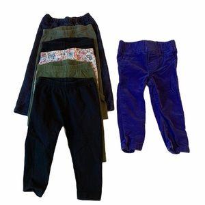 5/$20 Carter's black purple leggings 9 months